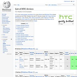 List of HTC phones