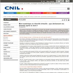 cnil : mort numérique
