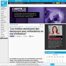 """L'INVITÉ DE L'ÉCO - """"Les médias deviennent des danseuses pour milliardaires en mal d'influence"""""""