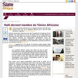 Haïti devient membre de l'Union Africaine