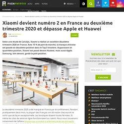 Xiaomi devient numéro 2 en France au deuxième trimestre 2020 et dépasse Apple et Huawei