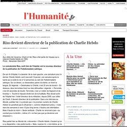 Riss devient directeur de la publication de Charlie Hebdo