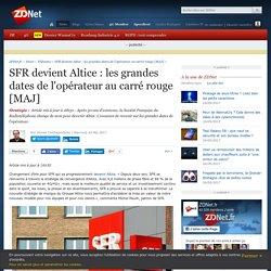 SFR devient Altice : les grandes dates de l'opérateur au carré rouge [MAJ] - ZDNet