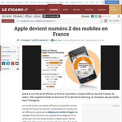 Sociétés : Apple devient numéro2 des mobiles en Fra