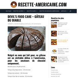 Devil's food cake - Gâteau du diable