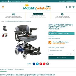 Drive DeVilBliss Lightweight Electric Powerchair – Mobility Solutions Direct