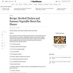 Recipe: Deviled Chicken and Summer Vegetable Sheet-Pan Dinner