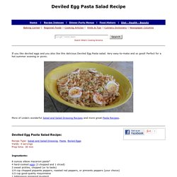 Deviled Egg Pasta Salad Recipe, Egg Recipes, Whats Cooking America