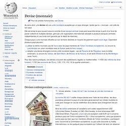 Devise (monnaie)