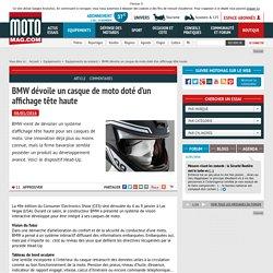 BMW dévoile un casque de moto doté d'un affichage tête (...) - Moto ...