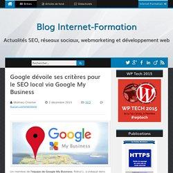 Google dévoile ses critères pour le SEO local via Google My Business