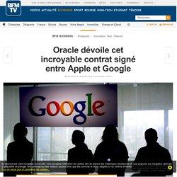 Oracle dévoile cet incroyable contrat signé entre Apple et Google