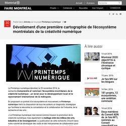 Dévoilement d'une première cartographie de l'écosystème montréalais de la créativité numérique