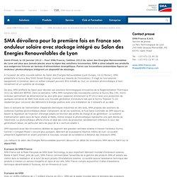 SMA dévoilera pour la première fois en France son onduleur solaire avec stockage intégré au Salon des Energies Renouvelables de Lyon