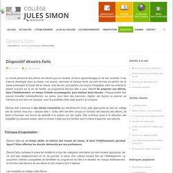 Devoirs faits -Collège Jules Simon
