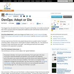 DevOps: Adapt or Die