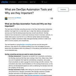 What are DevOps Automation Tools and Why are they Important?