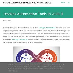 DevOps Automation Tools in 2020- II