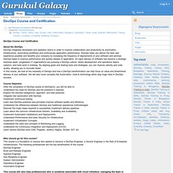 DevOps Course and Certification : Gurukul Galaxy