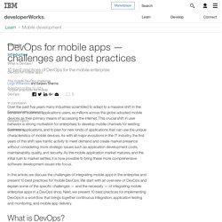 DevOps for mobile apps challenges and best practices