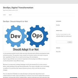 DevOps, Digital Transformation