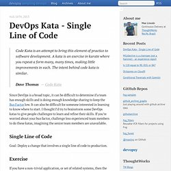 DevOps Kata - Single Line of Code - devopsy