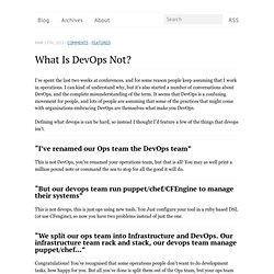 What is DevOps not?