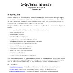 DevOps Toolbox: Introduction