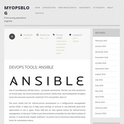DevOps tools: Ansible