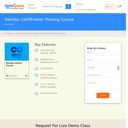 Best DevOps Training Online Certification Course-IgmGuru