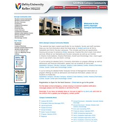 DeVry Atlanta Campus Community Home Page
