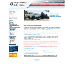 DeVry Orlando Campus Community Home Page