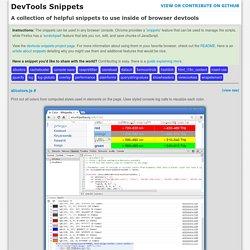 DevTools Snippets