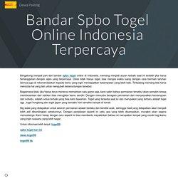 Bandar Spbo Togel Online Indonesia Terpercaya