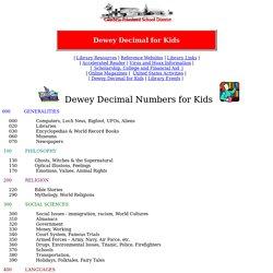 Dewey Decimal Numbers for Kids