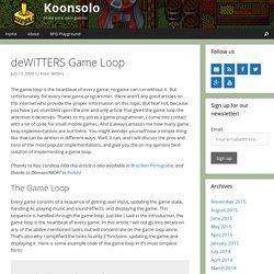 deWiTTERS Game Loop – Koonsolo Games