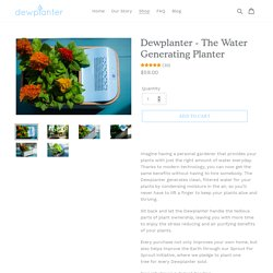 - The Water Generating Planter