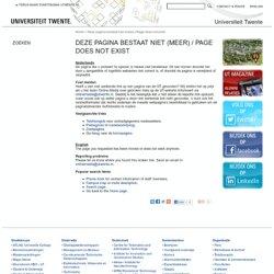 nieuwe concerndirecteur mc - Universiteit Twente
