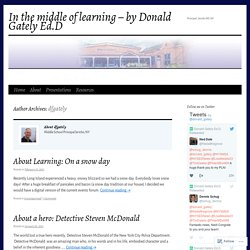 In the middle of learning – by Donald Gately Ed.D