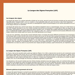 DGLFLF - La Langue des signes française