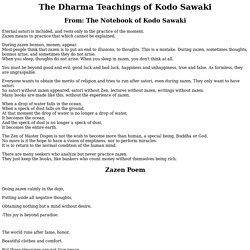 The Dharma Teachings of Kodo Sawaki