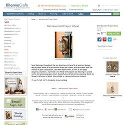Wall-Mounted Prayer Wheel: DharmaCrafts meditation supplies