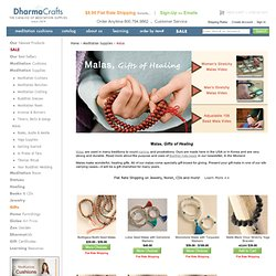 Malas: DharmaCrafts meditation supplies