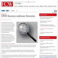 DHS licenses malware forensics