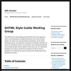DHTML Style Guide Working Group – AOL Access