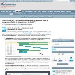 dhtmlxGantt 3.3 : mode fullscreen et auto scheduling pour le composant AJAX de diagrammes de GANTT