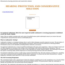 DhwaniAurica Hearing Aids Manufacturer, hearing protection and conservative solutions