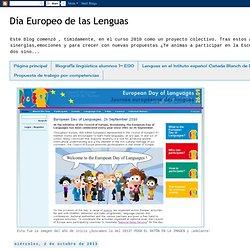 Día Europeo de las Lenguas: Yo soy yo y mi(s) lengua(s)