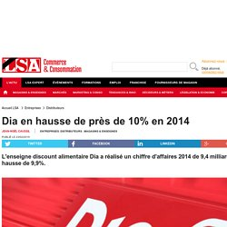 Dia en hausse de près de 10% en 2014