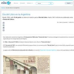 Día del Libro en la Argentina - Educ.ar